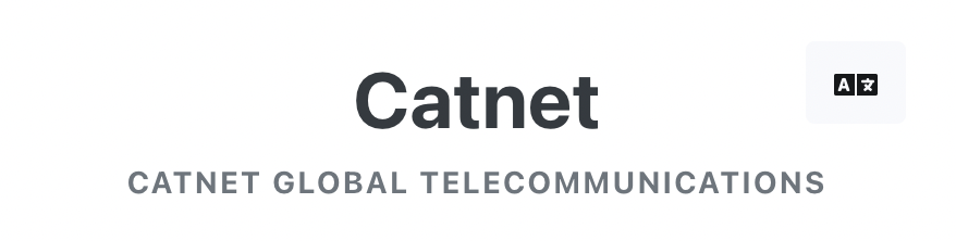 Catnet机场-点击右上角[A文]可切换语言