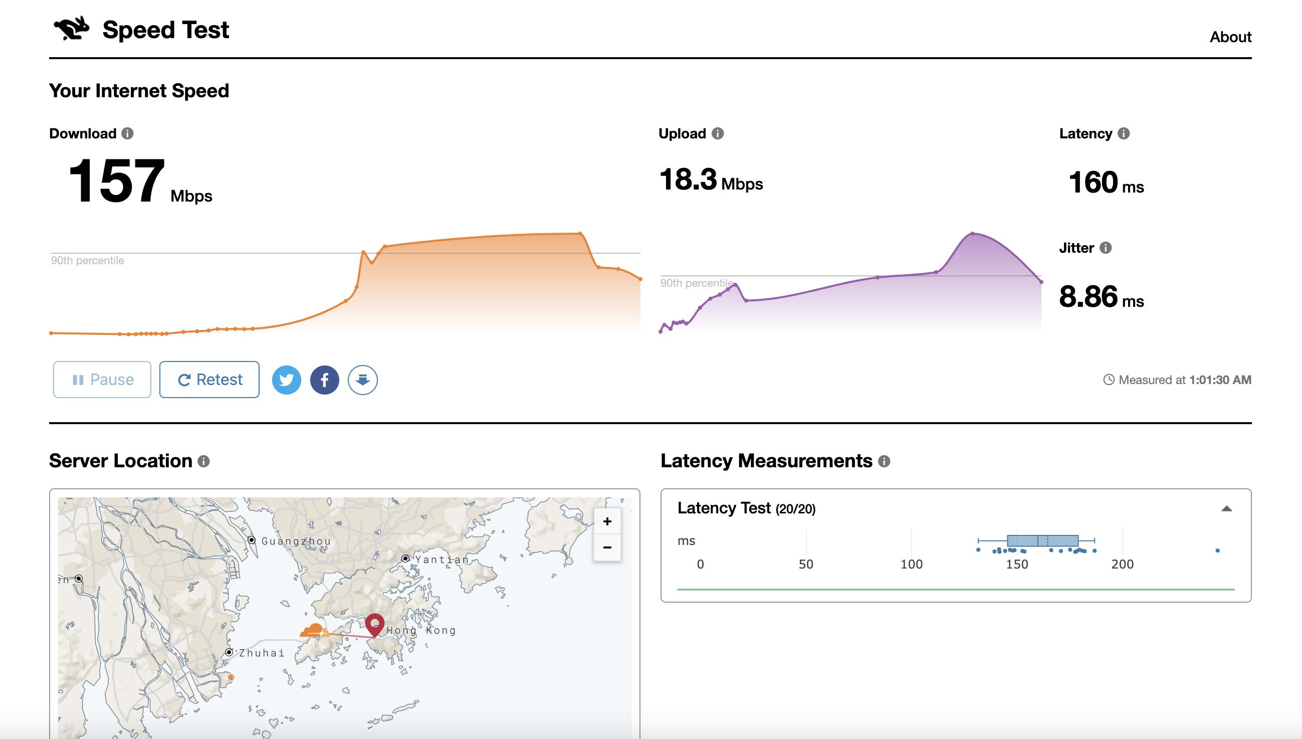 在线测速 - speed.cloudflare.com