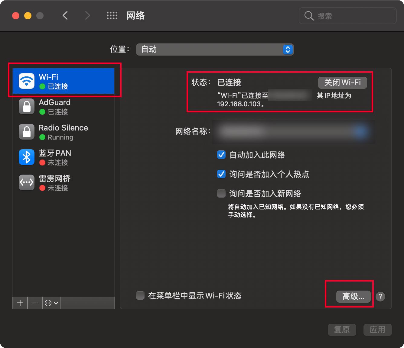 Mac 网络 - 网络偏好设置 - 高级设置.png